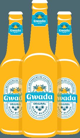 Bouteilles de bière guadeoupe - Gwada Beer